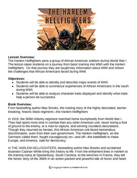 """""""The Harlem Hellfighters"""" by Max Brooks Study Guide"""