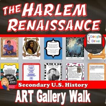 1920s harlem renaissance art gallery walk activity print digital toneelgroepblik Images