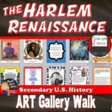 1920s Harlem Renaissance | Art Gallery Walk Activity | DISTANCE LEARNING
