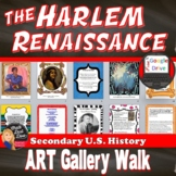 1920s Harlem Renaissance   Art Gallery Walk Activity   DISTANCE LEARNING