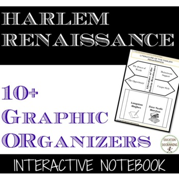 Harlem Renaissance Interactive Notebook Graphic Organizers