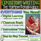 The Harlem Renaissance Text Analysis Expository Writing TDA | Distance Learning