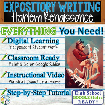The Harlem Renaissance - Text Dependent Research Expository Writing