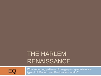 The Harlem Renassaince