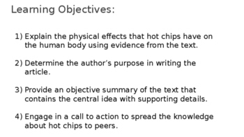 Citing Textual Evidence for Middle School:  The Truth About Flaming Hot Chips