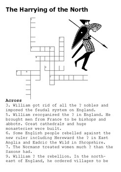 The Harrying of the North Crossword