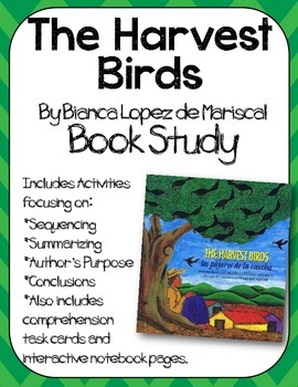 The Harvest Birds Book Study:Organizers and Interactive Notebook Pages