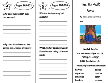 The Harvest Birds Trifold - Journeys 3rd Grade Unit 2 Week 3 (2011)