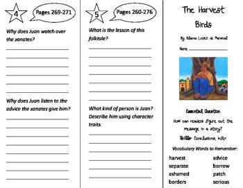 The Harvest Birds Trifold - Journeys 3rd Grade Unit 2 Week