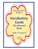 The Harvest Birds, Vocabulary Cards, Unit 2, Lesson 8, Journeys 3rd Grade