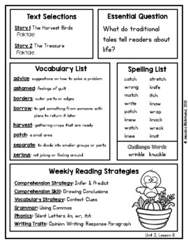 The Harvest Birds - Vocabulary Study Guide