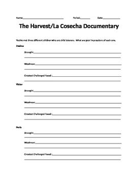The Harvest / La Cosecha DVD Questions