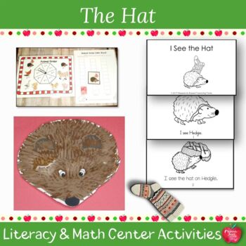 The Hat  by Jan Brett Literacy and Math Center Activities