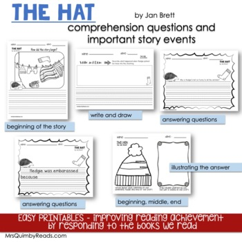 The Hat and The Mitten | Jan Brett | Book Companions | Reader Response Pages