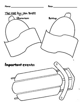 The Hat and The Mitten Story Elements - Retell Helper