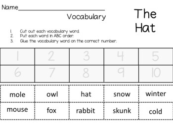 The Hat by Jan Brett  ~ 55 pages of Common Core Activities