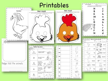 The Hat  Activity Pack:  sequence cards,  books, LA and math centers, flannel