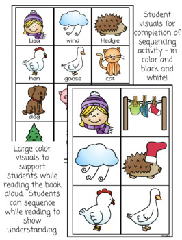 The Hat - retelling visuals and sequencing activity book