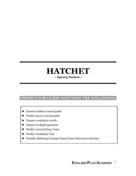 The Hatchet by Gary Paulsen Novel Guide