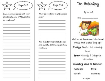 The Hatchling Trifold - 4th Grade Literacy by Design Theme 15