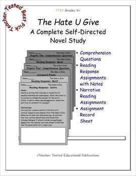 The Hate U Give: A Complete Novel Study