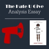 The Hate U Give Analysis Essay Activity Justice Writing Prompt