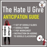 The Hate U Give Anticipation Guide