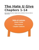 The Hate U Give Chapters 1-3 Discussion, Chapter Quizzes a