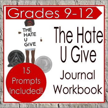 The Hate U Give: Journal Response / Reading Response Workbook