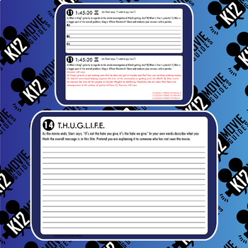 The Hate U Give Movie Guide   Worksheet (PG13 - 2018)