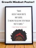 The Hate U Give Novel by Angie Thomas Growth Mindset Poste