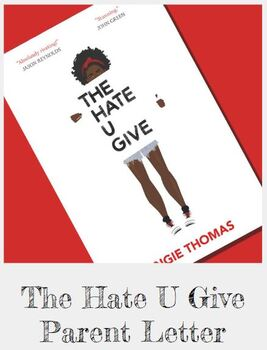 The Hate U Give Parent Letter