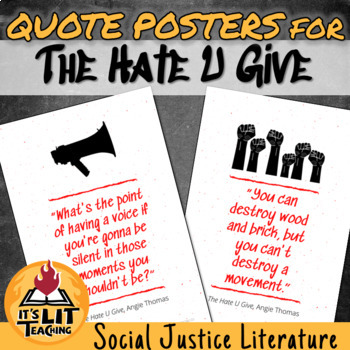 The Hate U Give Quote Poster