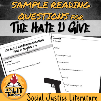 The Hate U Give Reading Comprehension Questions Ch 1 6