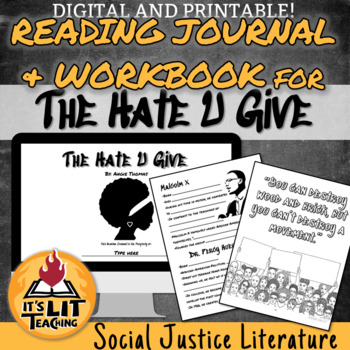The Hate U Give Reading Journal and Workbook (Distance Learning)
