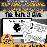The Hate U Give Reading Journal and Workbook: Printable an