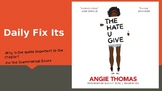 The Hate U Give by Angie Thomas Daily Quote and Grammar Analysis