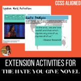 The Hate You Give Extension Activities