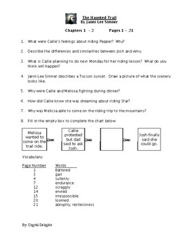 The Haunted Trail Reading Comprehension Questions