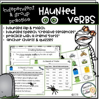 The \'Haunted Verbs\'....words in action....Fall & Halloween Fun | TpT