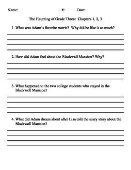 The Haunting of Grade Three Questions by Chapter