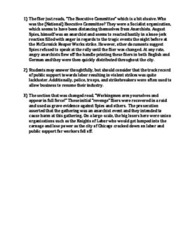 The Haymarket Affair (Riot) Flier Analysis DBQ