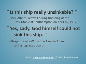 The Hazardous Attitude That Sank RMS Titanic