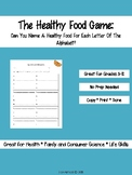 The Healthy Food Game