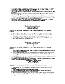 The Heart is A Lonely Hunter Discussion/Quiz Pack
