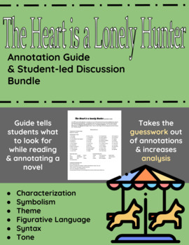 The Heart is a Lonely Hunter Annotation Guide and Student-led Discussion Bundle
