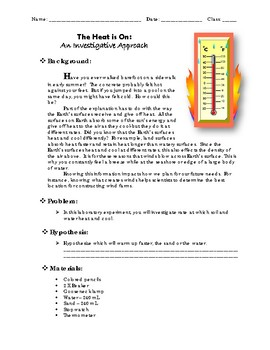 The Heat is On: An Investigative Approach - Labratory / Experiment
