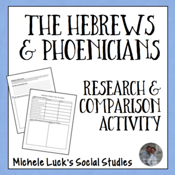 The Hebrews and Pheonicians Research & Comparison Activity