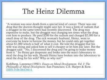 Lawrence Kohlberg Heinz Dilemma