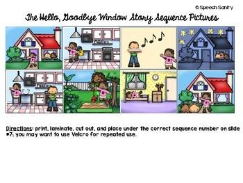 The Hello, Goodbye Window: Speech & Language Book Companion
